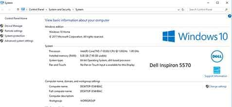 Dell Inspiron 5570 και inspiron 5770 με επεξεργαστές intel coffee lake.